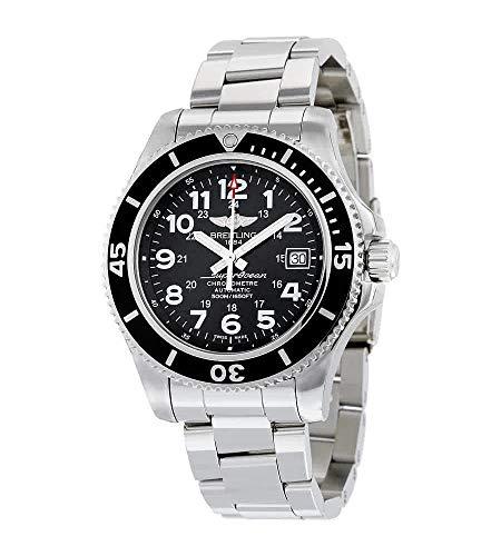Breitling Superocean II 42 automatico quadrante nero in acciaio inox Mens Watch A17365C9-BD67SS