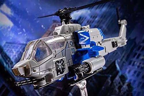 H6001-7 Hurricane Deformation Toy King Kong SS Bounce Ball Helicopter Movie Series Deformation Plane Transformable Toy Transforming Robot Building Toy for Developing Imagination and Creativity