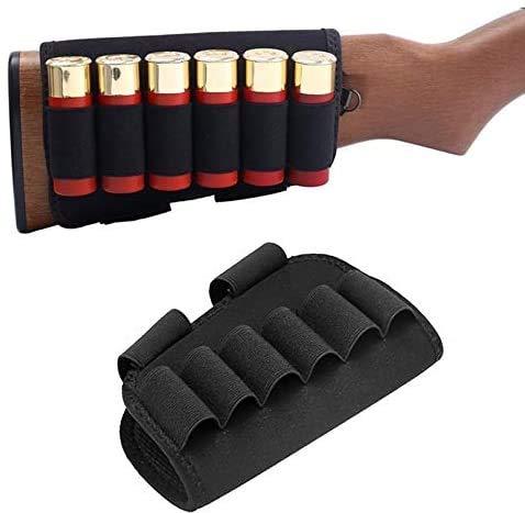 ACEXIER Tactical 6 Escopeta Redonda Soporte de munición de Culata 12/20 Ga Bullet Carrier Caza Militar Airsoft Rifle Butt Stock Cartucho Bolsa