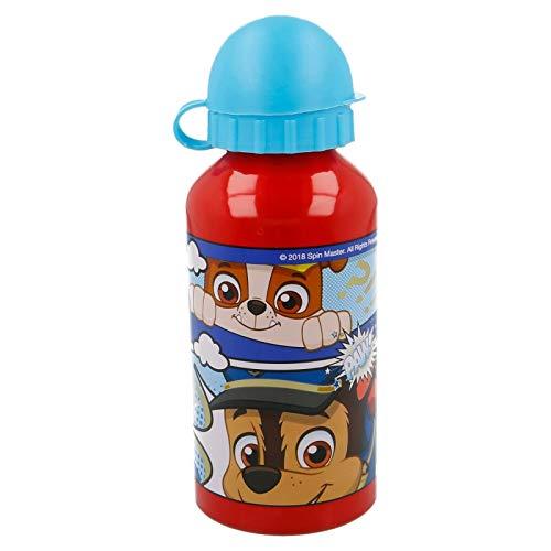 Borraccia Bottiglia in Alluminio per Bambini 400ml con beccuccio retraibile (Paw Patrol)