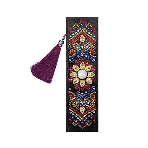 Raybre Art Segnalibro Fai da Te Pittura a Forma di Diamante Mandala Fiore Ornamento Artigianale