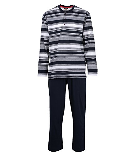 Ceceba Herren 30556-5665 Zweiteiliger Schlafanzug, Blau (Navy 8411), XXXX-Large (Herstellergröße: 60/62)