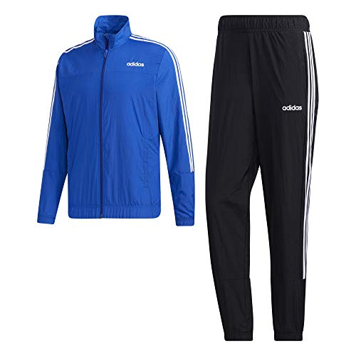 adidas Herren Essentials Woven Trainingsanzug, Royal Blue/Black/White, L/S