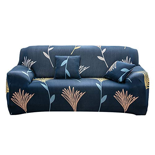 Yeahmart Sofa Cover 1 2 3 Seater Sofa Slipcovers Printed Stretch Couch Cover Polyester Spandex Furniture Protector Cover (3 Seater, Pattern #Wildflower)