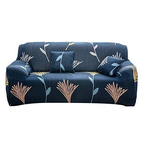 Yeahmart - Funda para sofá de 1, 2 y 3 plazas, elástica, de poliéster y elastano, poliéster, Flor silvestre, 3 Seater(175-220cm)