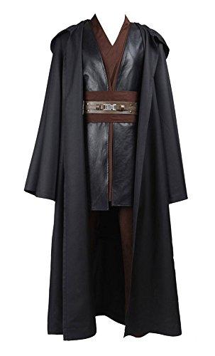 Star Wars Kostüm Anakin Skywalker Kostüm Jedi Kostüme für Erwachsene Braun L