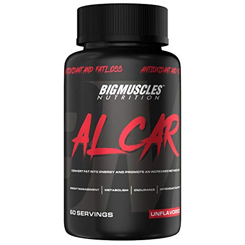 Bigmuscles Nutrition ALCAR (ACETYL L-CARNITINE 1000mg Per Serving) | 60 Servings | Weight Loss | Natural Fat Burner | Muscle Recovery | Memory & Focus - Zero Fillers | Lasts 60 Days