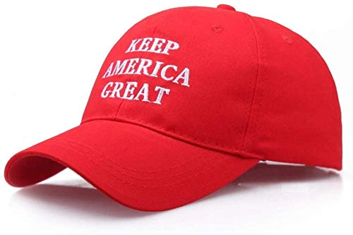 HANJINYU Baseballkappe,Einzigartige Keep America Great Stickmütze Paar Snapback Caps Baumwolle Mode Hip-Hop Hut Outdoor Verstellbare Papa Hüte