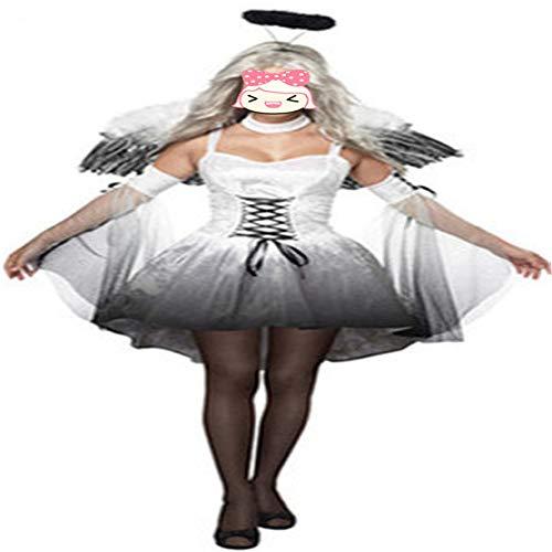 Discountl Kostüm für Damen und Erwachsene, Kostüm, Kostüm, Engel, Teufelskostüm, Kostüm, Kostüm, Kostüm, Kostüm, Kostüm, Kostüme Gr. XXX-Large, weiß
