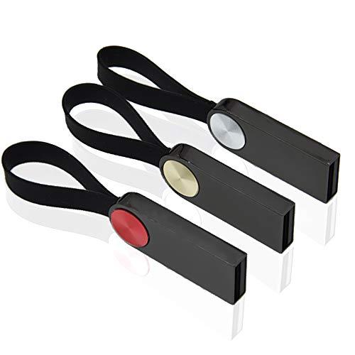 8GB Chiavetta USB 3 Pezzi Pen Drives Kepmem Mini Portatile Pennetta USB Piccola Chaive USB 2.0 Metallo Memoria Stick Economica Penna USB Elegante Pendrive Regalo, Multicolore