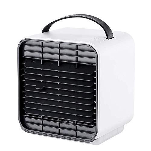 SLRMKK Refroidisseur d'air, refroidisseur d'air/humidificateur/purificateur d'air Portable à faiblebruit USB, Mini-refroidisseur d'air 3 en 1, Direction du Vent réglable verticalement,