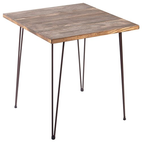 Indhouse Plat – Table Style Industriel de Restaurant de Style loft en métal et Bois Chicago