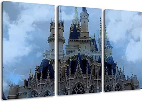 Disneyland Castle Leinwand Malerei Poster Wandkunst Bild Druck Auf Leinwand Wohnzimmer Schlafzimmer Küche Büro Wohnkultur Wandbild