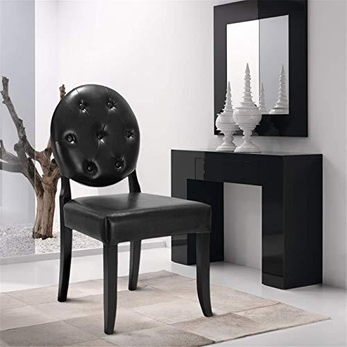 TEET Sillas de comedor clásicas, estilo antiguo, silla de comedor de piel sintética, silla para oficina, salón, sala de estar (tamaño: 52 x 59 x 95 cm; color: negro)