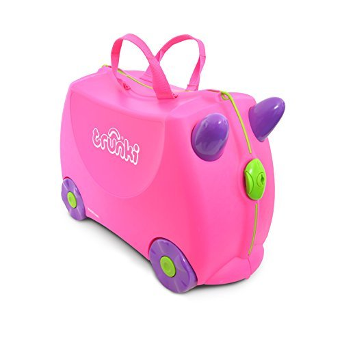 Trunki The Original Ride-On Trixie Suitcase, Pink by Trunki