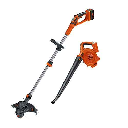 BLACK+DECKER LCC140 40-Volt Max String Trimmer and Sweeper Lithium Ion Co