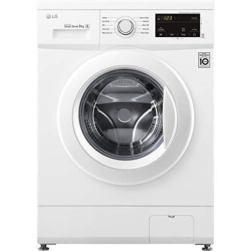 LG F4MT08WE 6 Motion Direct Drive 8kg 1400rpm Freestanding Washing Machine - White