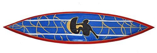 Surfbrett 100cm Dekoration Surboard Surfer auf Welle Wellenreiter