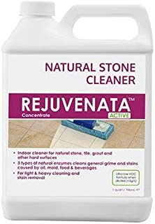 Dry-Treat Rejuvenata Concentrate for Floor (1 Quart) Enzyme Cleaner for Cleaning Natural Stone, Tile, Grout & Other Hard Surfaces
