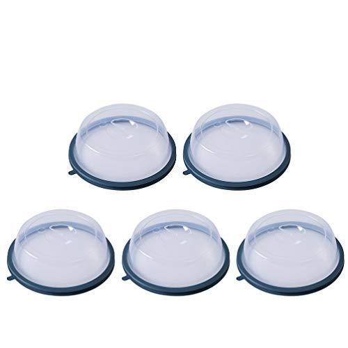 Hemoton 5 Piezas de Plástico Cubierta de La Placa de Microondas Cubierta de La Placa de Salpicaduras a Prueba de Aceite Tapa de La Placa Cubierta del Sello de Silicona Tapa Resistente Al