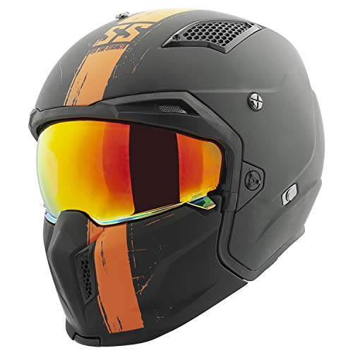 Casco De Moto Naranja  marca Speed & Strength