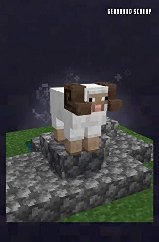 Minecraft Gehoornd Schaap ( Horned Sheep ) notitieboekje, Journal, dagboekje: Horned Sheep (MCE Black)