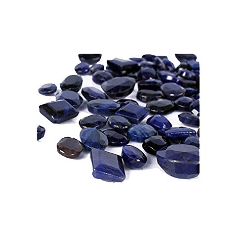 100 Ct./7 Pcs Natural Ring Size African Top Blue Sapphire Loose Gemstones Lot