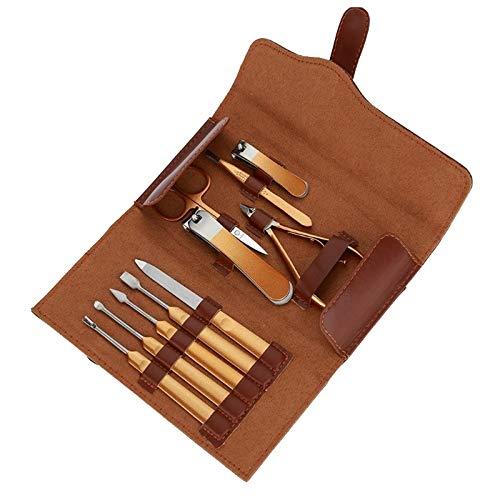 Juego de cortaúñas Clippers de clavo de uñas de acero inoxidable profesional conjunto herramientas de pedicura de manicura para uñas para la utilidad de regalo 10 piezas Herramientas de manicura