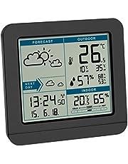 TFA Dostmann SKY 35.1152.01, stacja pogodowa z odczytem radiowym z czujnikiem zewnętrznym, prognoza pogody, zegar sterowany radiowo, pomiar wewnątrz i na zewnątrz