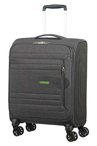 American Tourister Sonicsurfer - Spinner 55/20 Equipaje de Mano, 55 cm, 40 Liters, Gris (Dark Shadow)