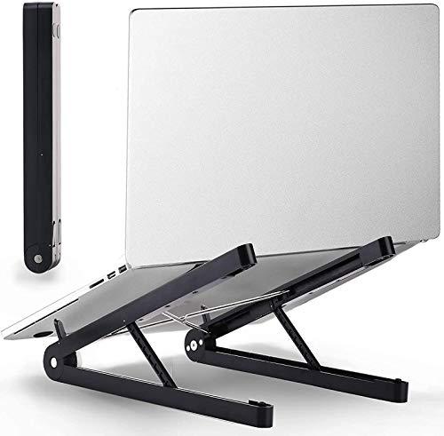 Soporte portátil portátil para ajustar el soporte portátil de la computadora portátil de la computadora portátil Plegable Anti-patín del soporte para portátil blanco