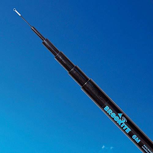 Fahnenmast-Teleskopstange, 6m und Standard-Erdspieß, für Festivals, Camping etc.