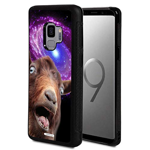 Galaxy S9 Case,AIRWEE Slim Anti-Scratch Shockproof Silicone TPU Back Protective Cover Case for Samsung Galaxy S9 (2018), Funny Space Goat Meme