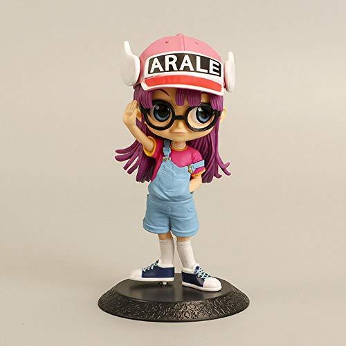 Dr. Fladen Und Der Roboter-Puppe Arale Animierte Figur Modell Statue Ornaments Anime Charaktere Schönes Mädchen Collectibles 13.5CM