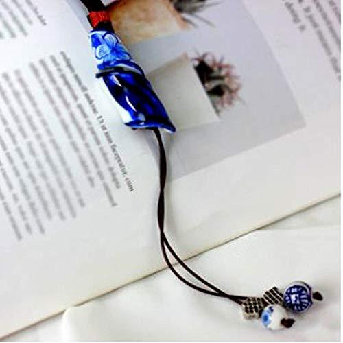 Thermoeffekt Tasse Lustig,Retro Ethnischen Geflochtenes Seil Lange Kette Keramik Brennofen Pullover Kette Zubehör Chinesischen Stil Schmuck Mädchen Geschenk Blau