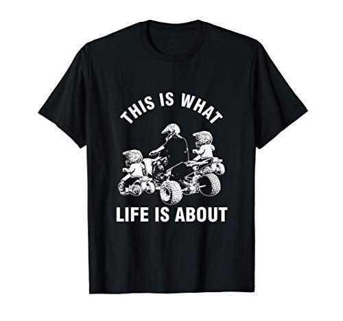 Worum Es Im Leben Geht Vater Kinder Quad ATV Fahrer Gelände T-Shirt