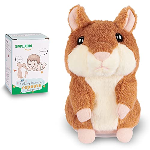 Kids Toys Talking Hamster Repeats What You Say  Talking Plush Interactive Toys Repeating Plush Animal Toy  Fun Christmas Gift for 2 3 Year Old Kids  Baby  Child  Toddlers
