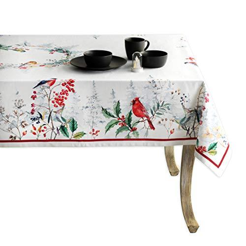 Maison d' Hermine Morzine - Mantel de algodón 100% para cocina, comedor, decoración de mesa, fiestas, bodas, Acción de Gracias, Navidad (rectangular, 140 x 180 cm)