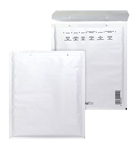Bong AirPro - Pack de 100 bolsas acolchadas, 150 x 215 mm, color blanco
