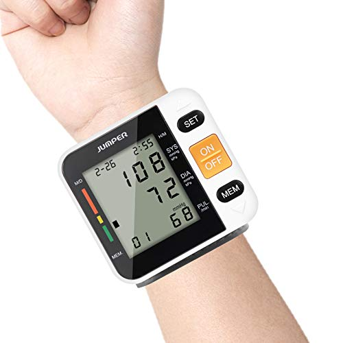 Wrist Blood Pressure Monitor Automatic Digital BP Kit with Large LCD Display, Adjustable Wrist Cuff Monitor Irregular…