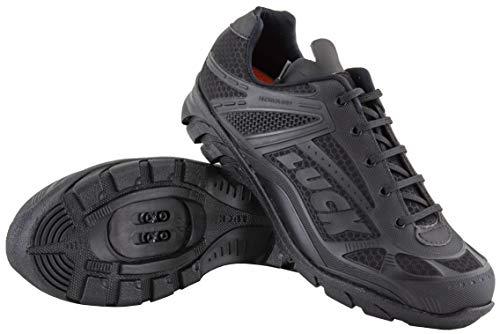 LUCK Zapatillas de Ciclismo Predator 18.0,con Suela de EVA Ideal para Poder adaptarte a Cualquier Terreno y disciplina Deportiva. (43 EU, Negro)