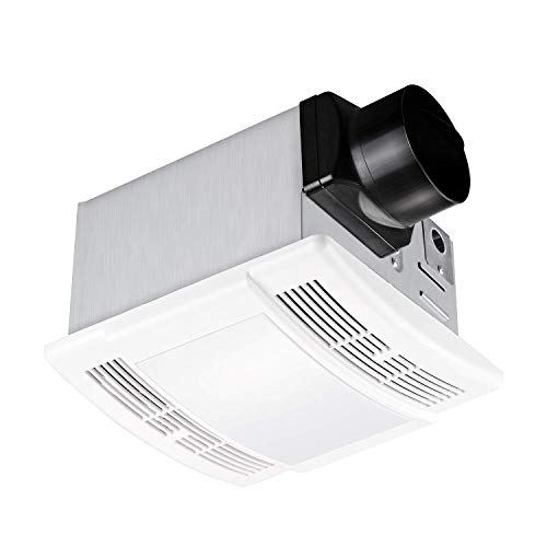 Tech Drive Bathroom Fan with light 90 CFM, 1.5 Sone Quiet Ventilation and Exhaust Fan With LED light (12W LED Bulb Included) Ceiling Mounted Fan,Easy to Install