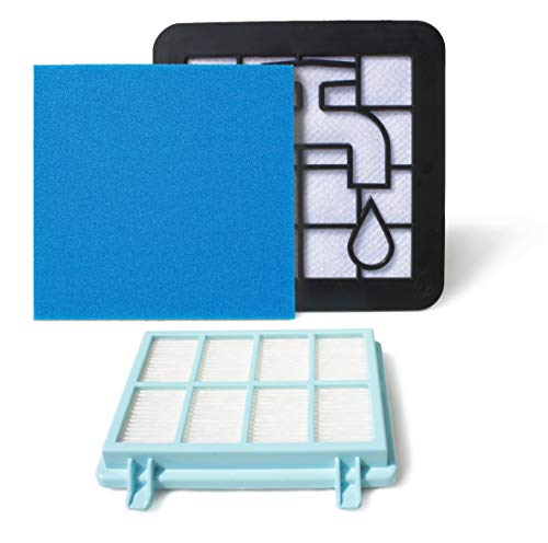 MI:KA:FI Filter-Set | für Philips Staubsauger | PowerPro Compact + Marathon Compact | wie FC8010/01