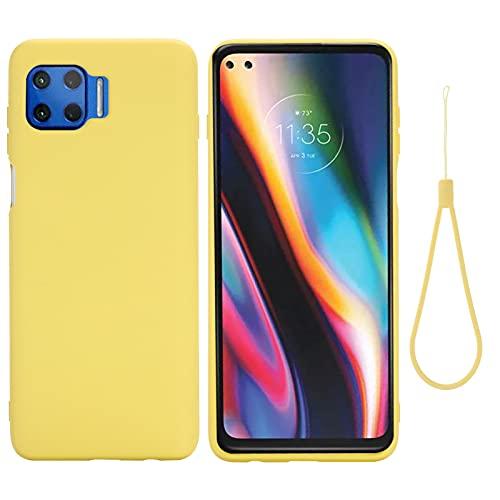 BeyondTop Funda Compatible con Motorola Moto G 5G Plus, Carcasa Silicona Suave Gel Rasguño y Resistente Teléfono Móvil Cover, Funda para Motorola Moto G 5G Plus (Amarillo)