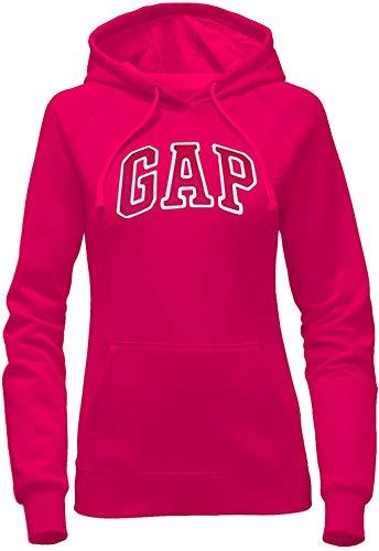 GAP Women's Pullover Fleece Logo Hoodie (XX-Large, Bright Pink)