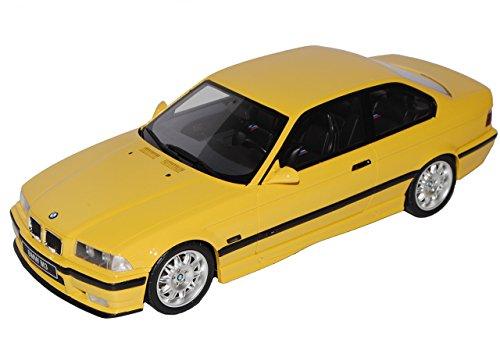 B-M-W 3er E36 Coupe M3 Gelb 1990-2000 Nr 666 1/18 Otto Modell Auto mit individiuellem Wunschkennzeichen