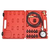 Qiilu Kit di Strumenti per Test della Pressione Dell'olio Motore in Acciaio Inossidabile +...