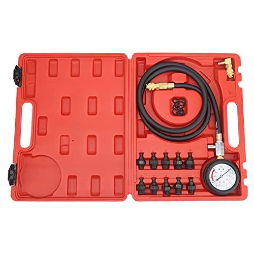 Kit de herramientas de prueba de presión de aceite del motor Medidor de prueba con caja de herramientas Advertencia de nivel bajo de aceite con acoplamiento de 90 ° A