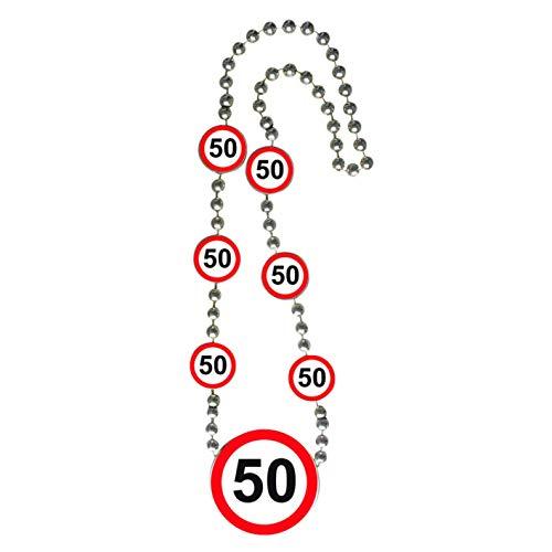 Folat Geburtstags-Halskette mit Verkehrsschildern – 50. Geburtstag