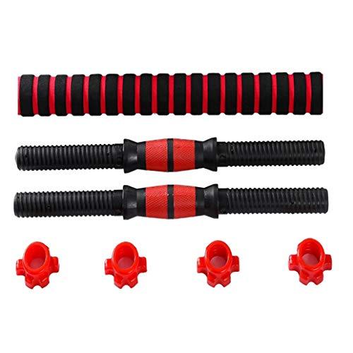 DaysAgo - Juego de mancuernas ajustables para levantamiento de pesas, 5 x 40 cm barras y 2,5 x 40 cm bielas para gimnasio